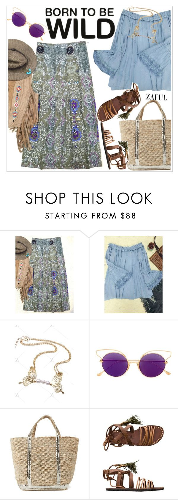 """""""Zaful"""" by teoecar ❤ liked on Polyvore featuring Dita, Vanessa Bruno Athé, Free People and zaful"""