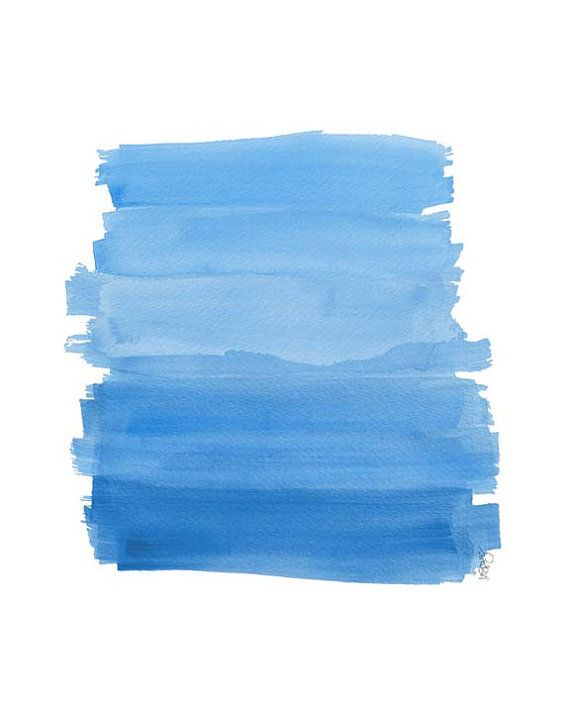 Hand Painted Watercolor Ombre Gradients Blue Watercolor Artist