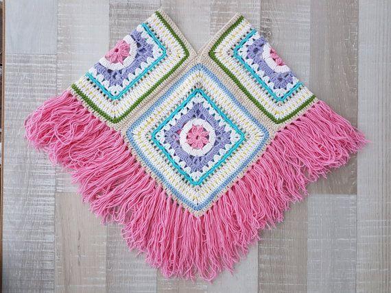 Elegant crochet granny square poncho pattern free u003esummer of u002769 granny square poncho XEUZIZL #grannysquareponcho