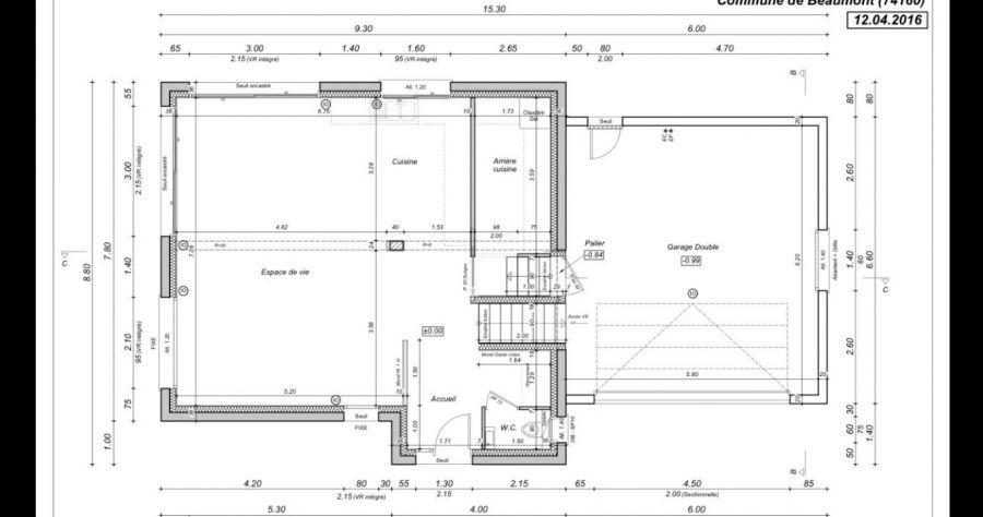 Plan de maisonHaute Savoie (74) Le RDC de notre maison, avec un