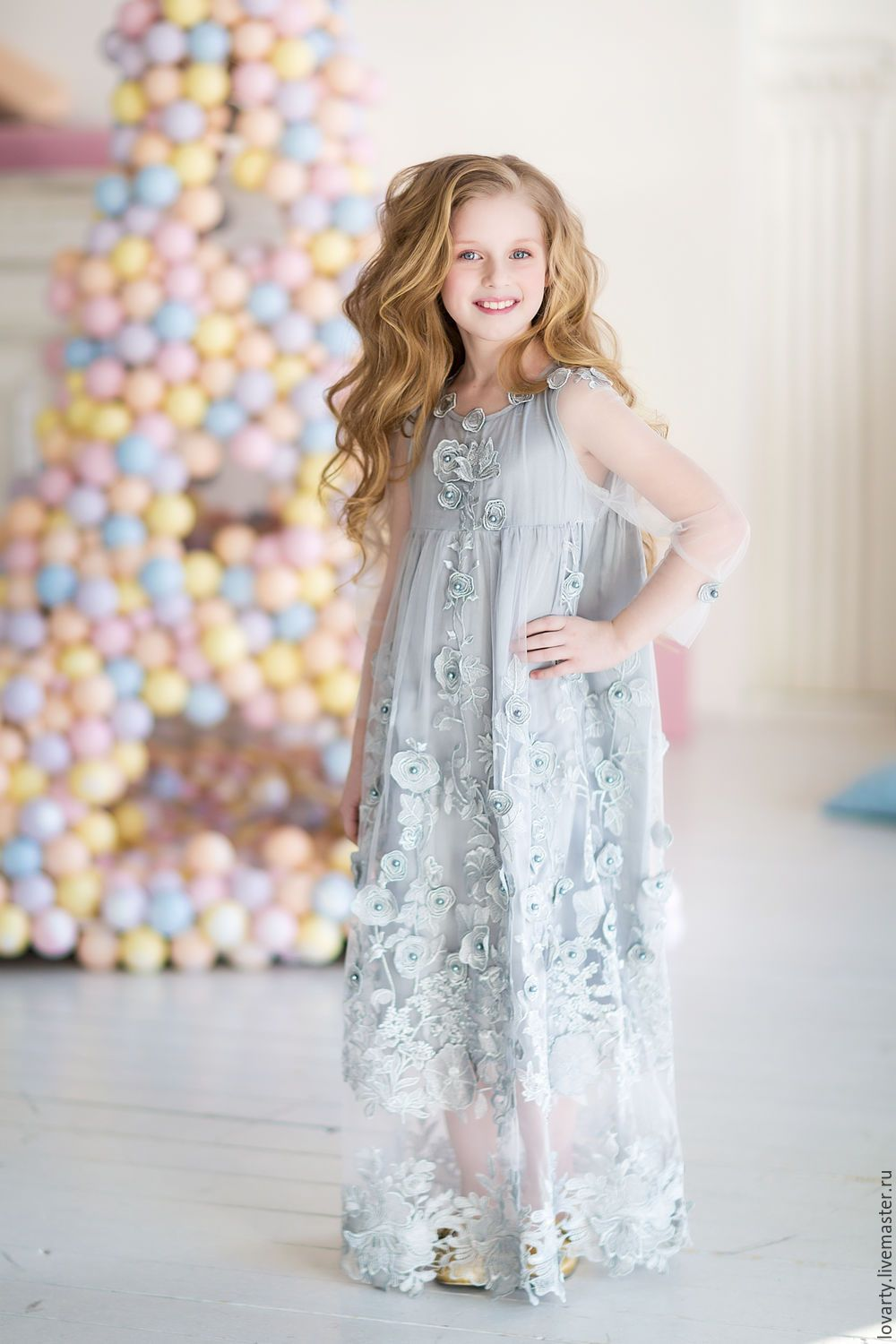 150fa769f14 Dress silver for girls – shop online on Livemaster with shipping Silver  Dress
