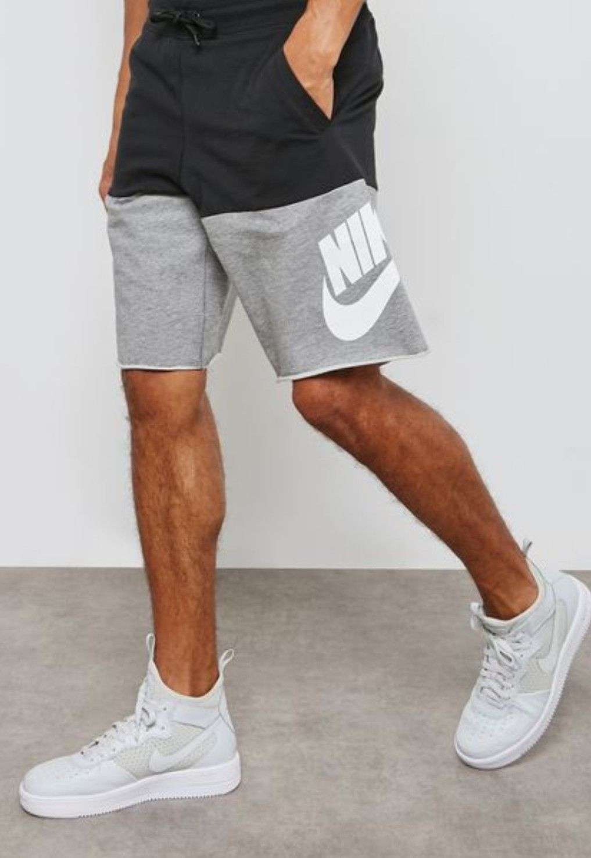 Nike Shorts In Black Grey Athletic Shorts Men Mens Shorts Outfits Sweat Shorts Men [ 1475 x 1017 Pixel ]