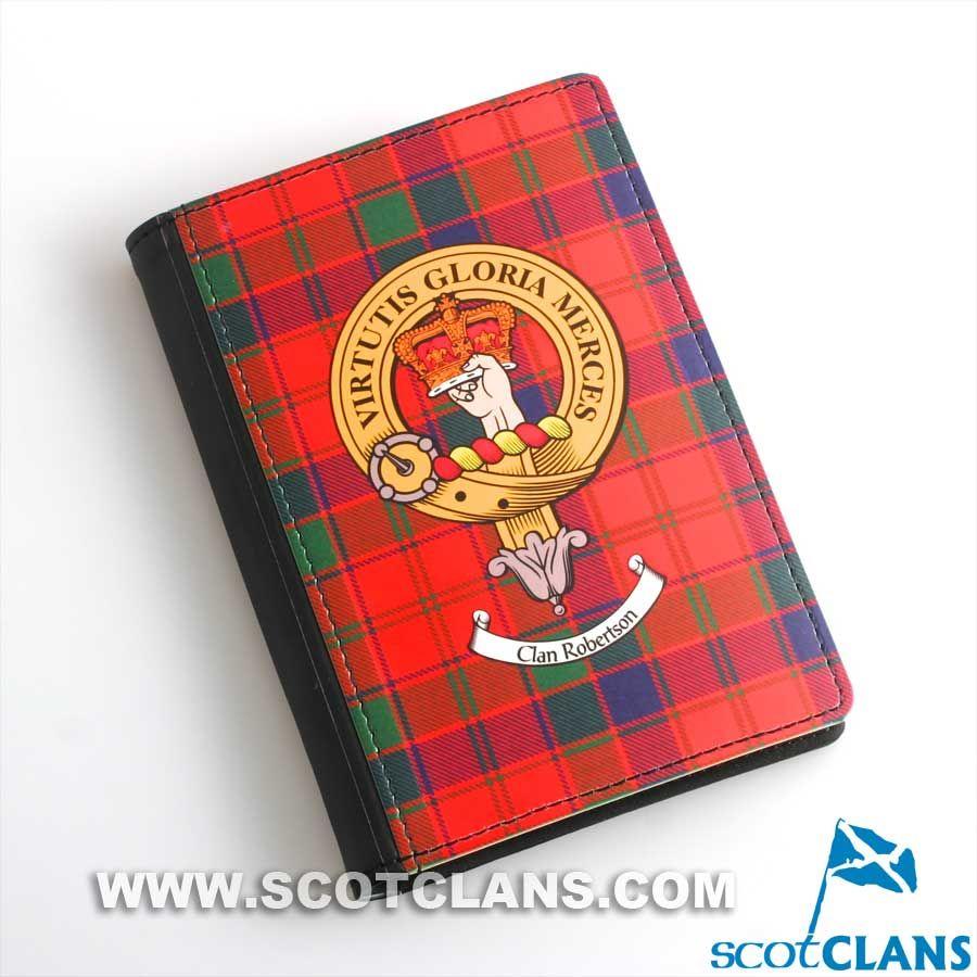 Robertson Clan Crest Passport Cover | Clan Robertson (Donnachaidh ...