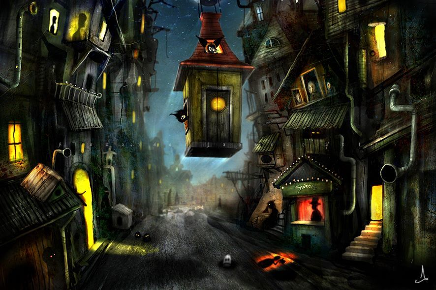 """Old concept art for """"Ramone Bosco"""" by Alexander Jansson"""