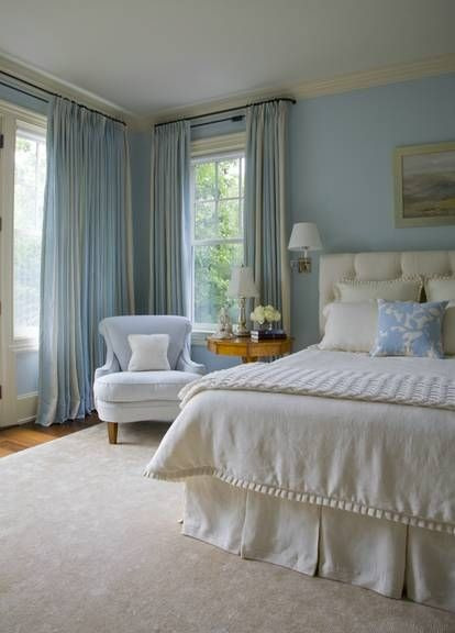 House of Hydrangeas: Hues of Blue in the Bedroom