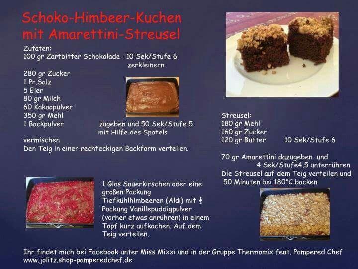 Schokolade Himbeer Kuchen Mit Amarettini Streusel Himbeeren