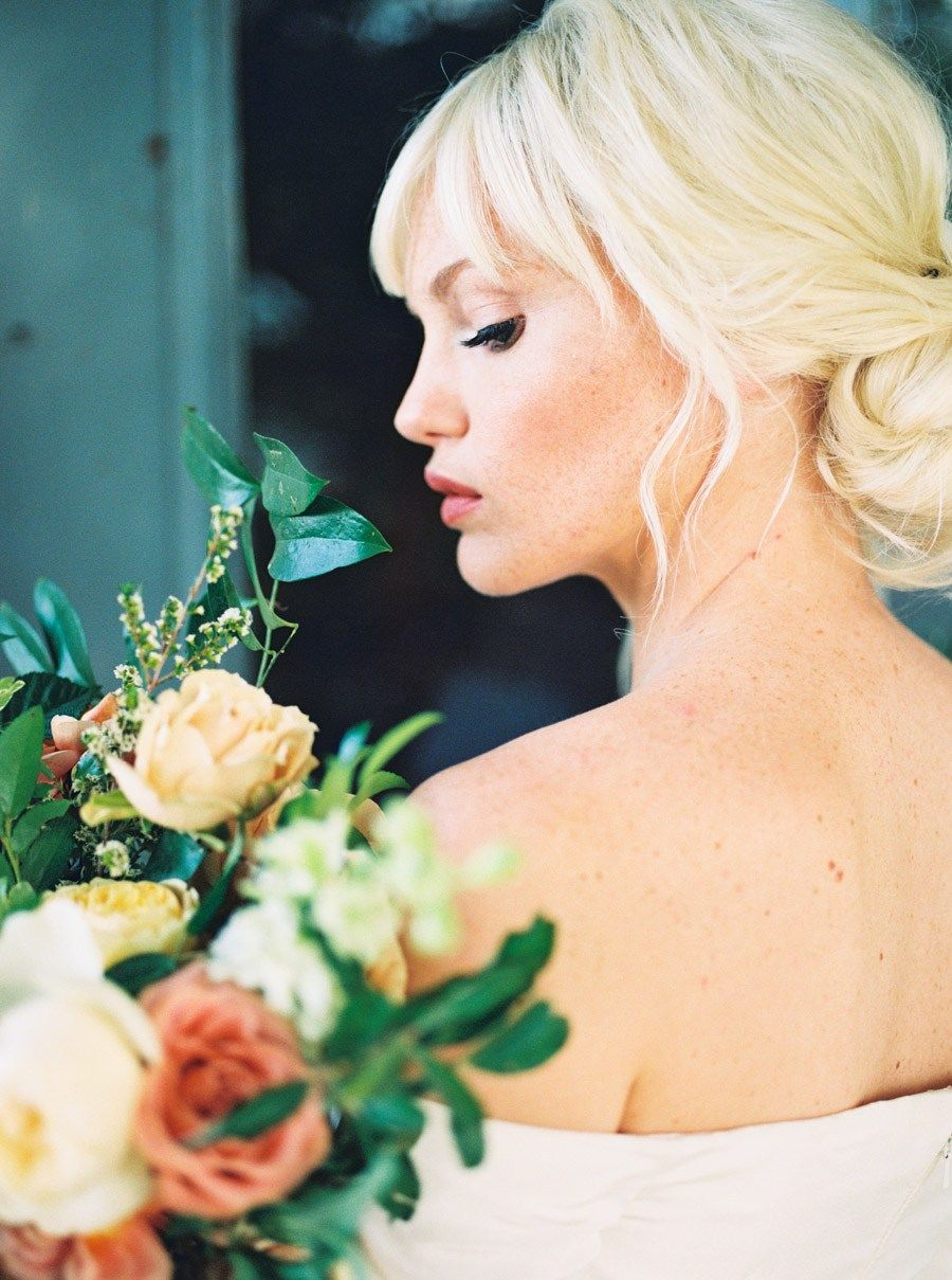 hamilton hair and makeup, gorgeous wedding hair | floral