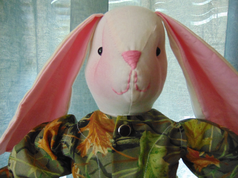 Camo Tony the Stuffed Boy Bunny Rabbit Doll #boydollsincamo