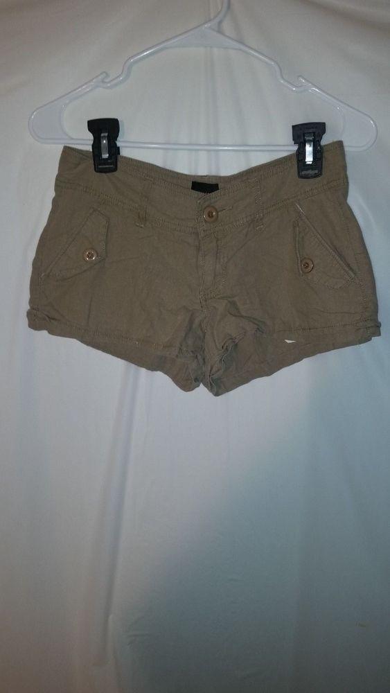 Womens 2b Bebe Brown Linen Blend Shorts Sz 2 #2bbebe #CasualShorts
