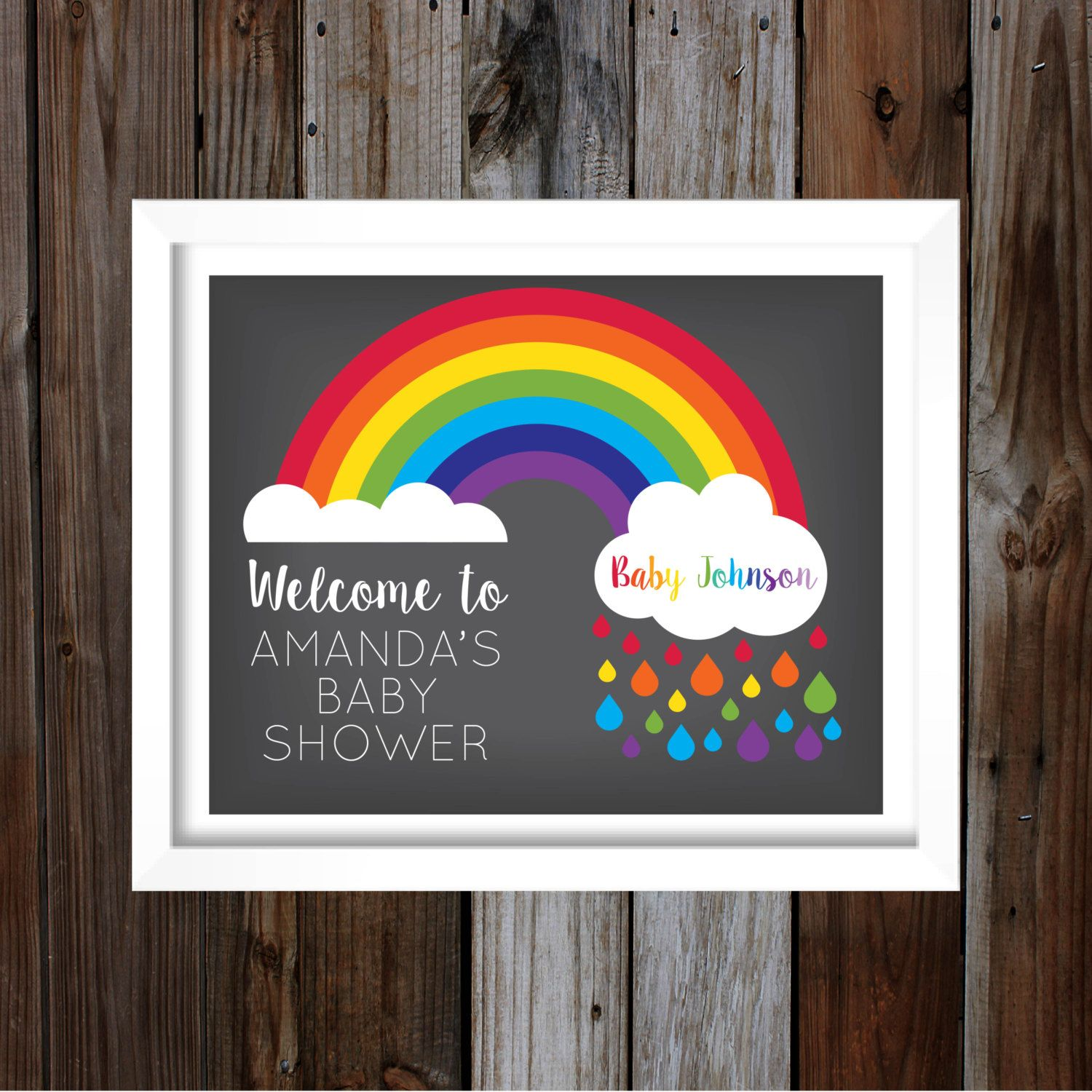Invitations Pregnant After by TheRainbowBaby Printable Baby Shower