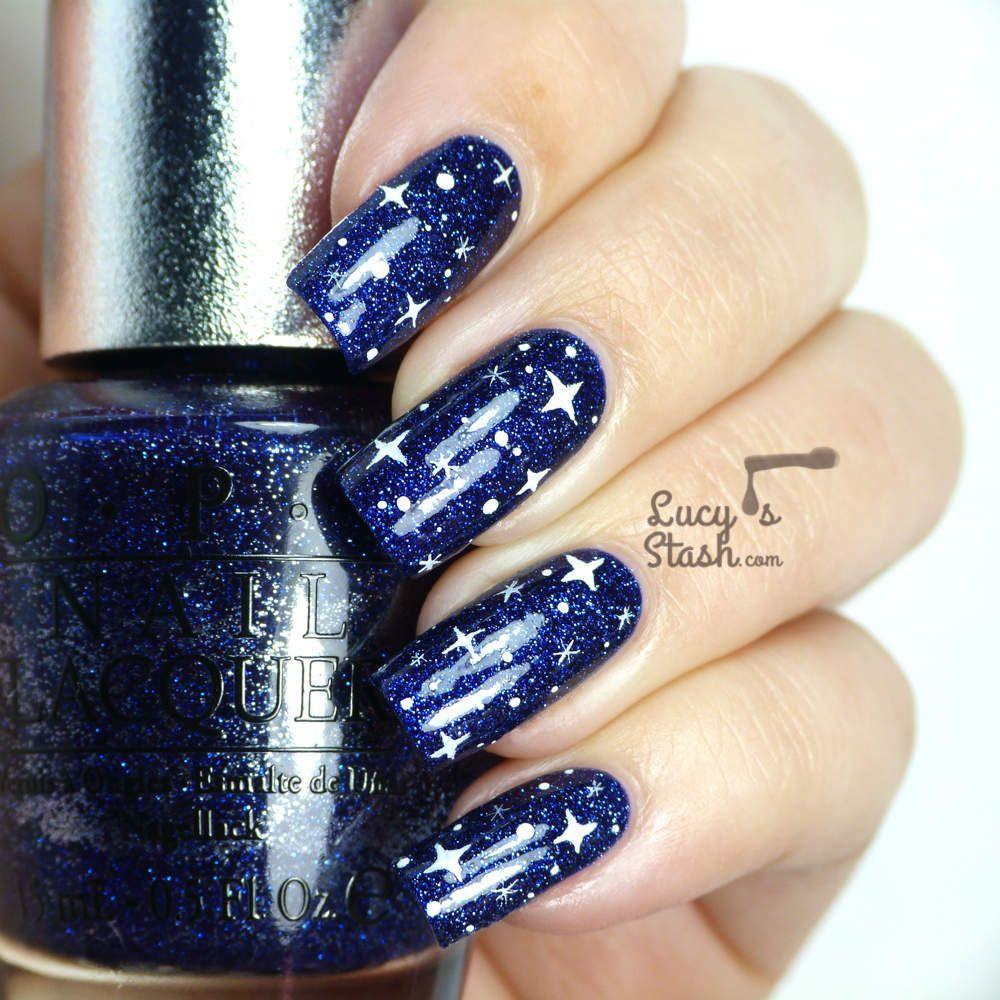 Starry Sky Nail Art Over Opi Ds Lapis Plus A Nailart Comparison