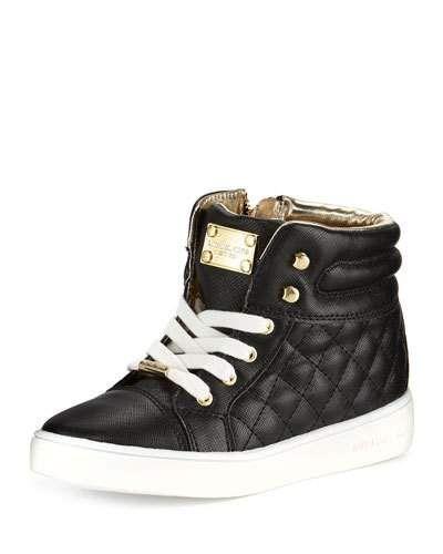 f1d7e60d40d9 Z1SDL MICHAEL Michael Kors Cora Faux-Leather High-Top Sneaker