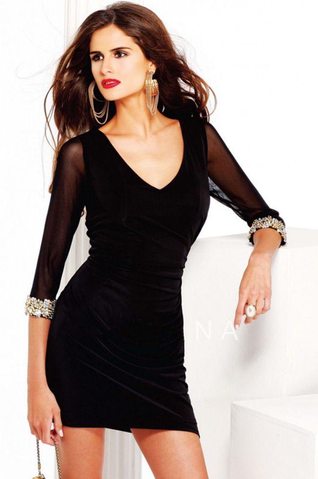 f84fc6ebc Vestido de coctel corto color negro