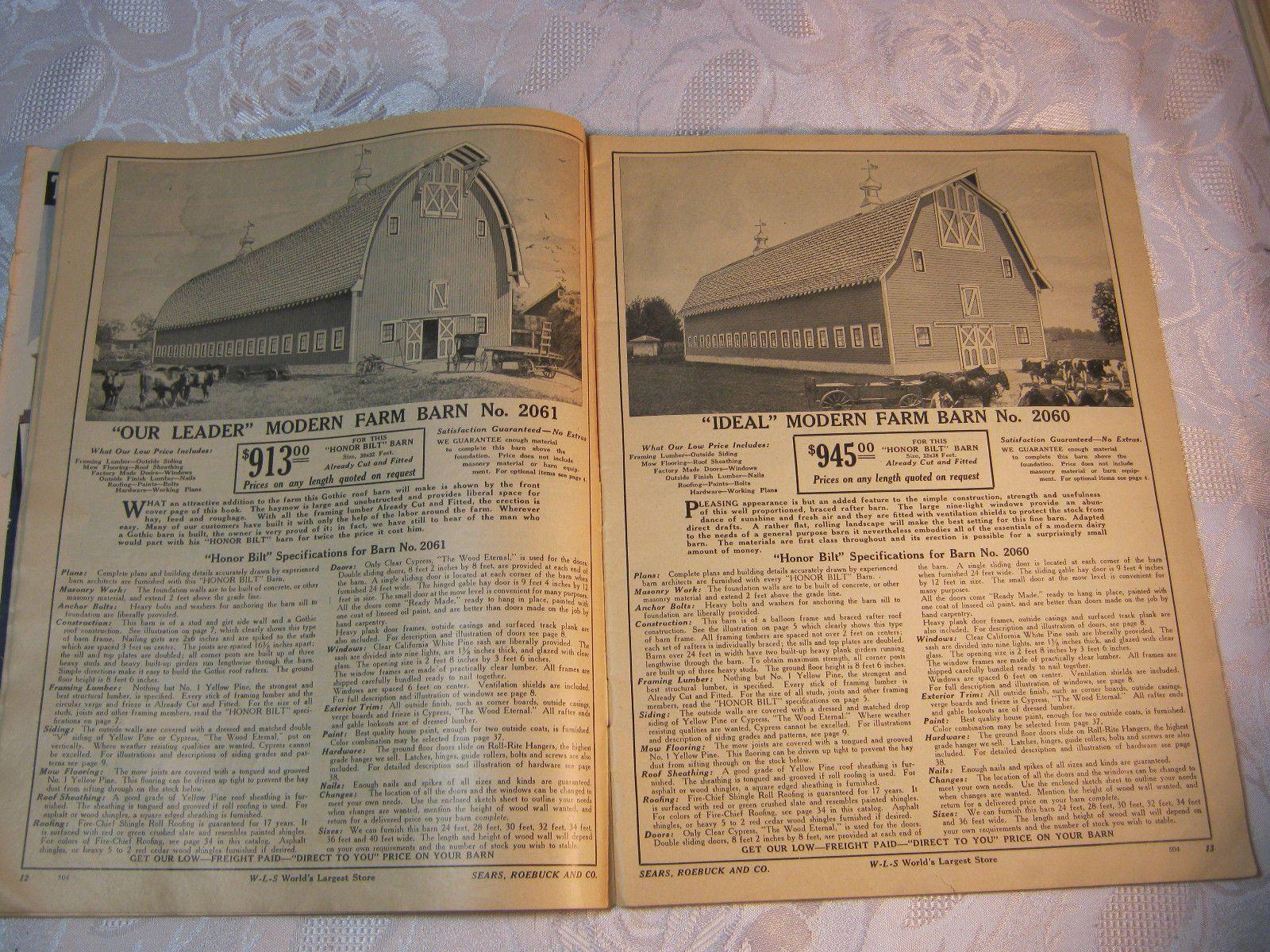 Modern Farm Buildings Sears Roebuck and Co Catalog Farming