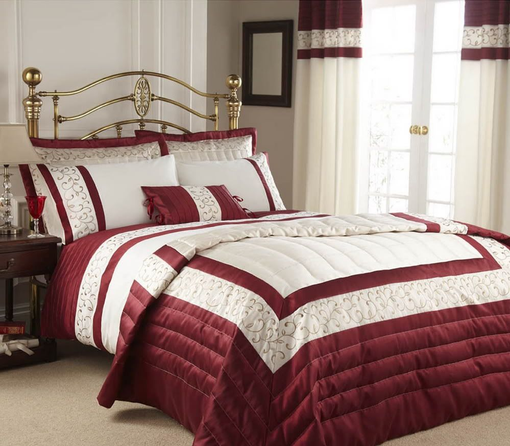 Image detail for red cream double duvet cover bedding Red and cream bedroom ideas