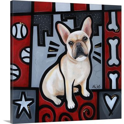 Canvas On Demand 'French Bulldog Pop Art' by Eric Waugh Painting Print on Canvas Size: