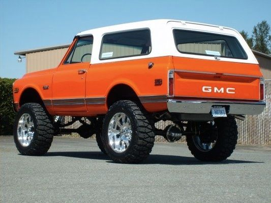 Orange Jimmy Trucks Chevy Trucks Suv Cars