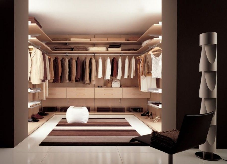 Modern Closet walk in closet ikea for modern classic design: modern light brown