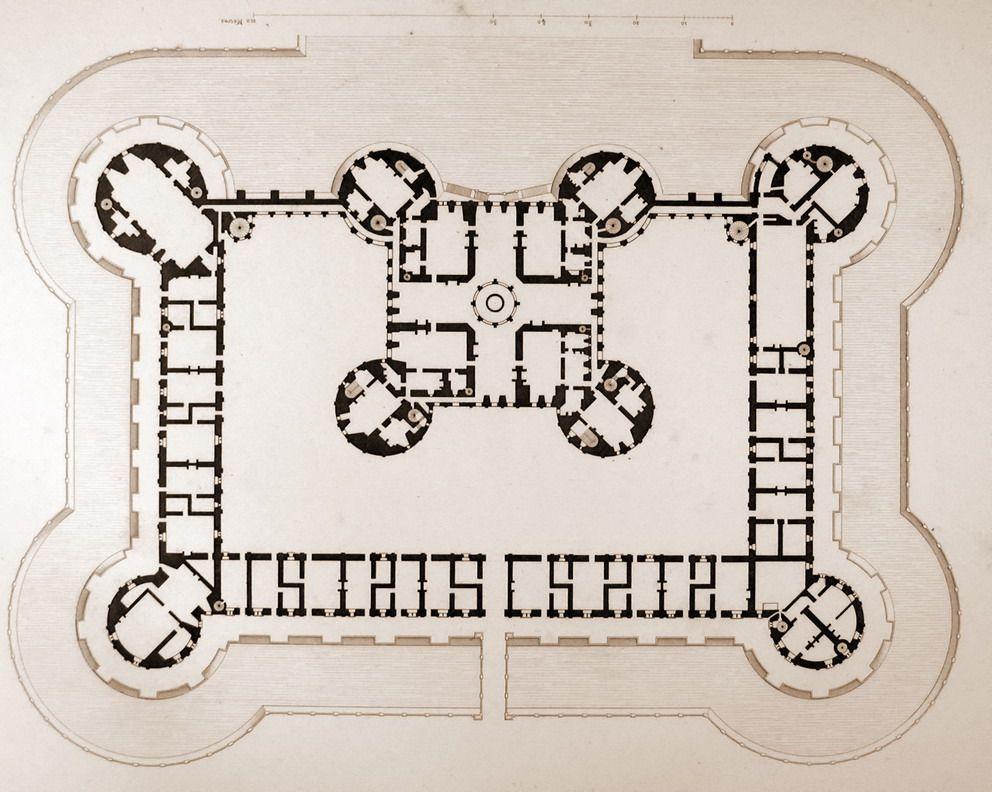 Plan Of The Chateau De Chambord Castle Floor Plan Castle Plans Chateau Chambord