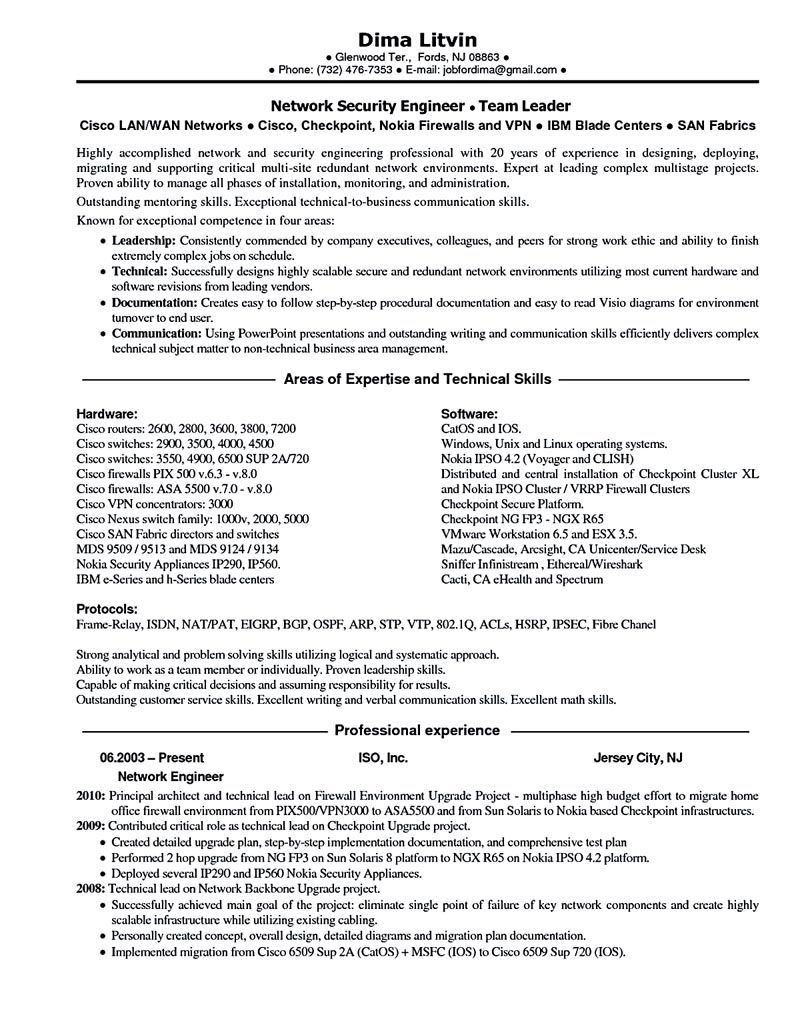 High Quality Explore Sample Resume Cover Letter And More! Network Engineer ...