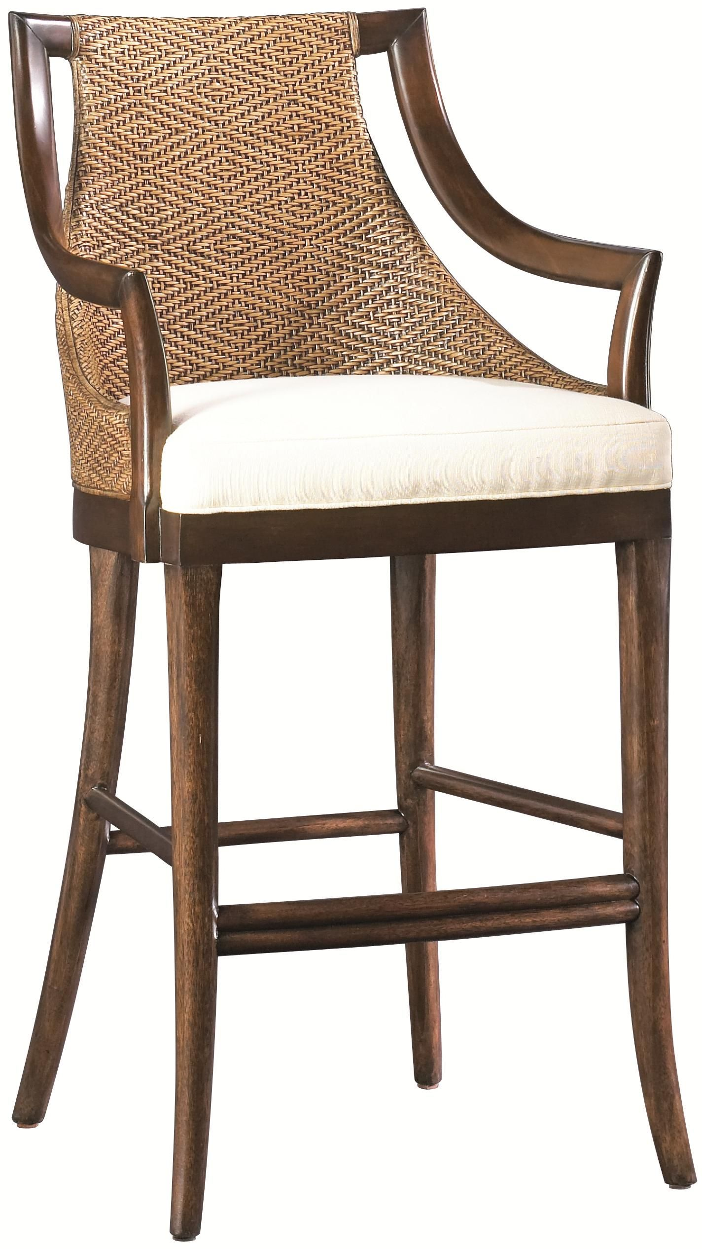Paragon Counter Height Stool With Diamon Cane Weave Back Frabric Upholstered Seat At Baer S Kitchen Bar Stools Stools For Kitchen Island Furniture