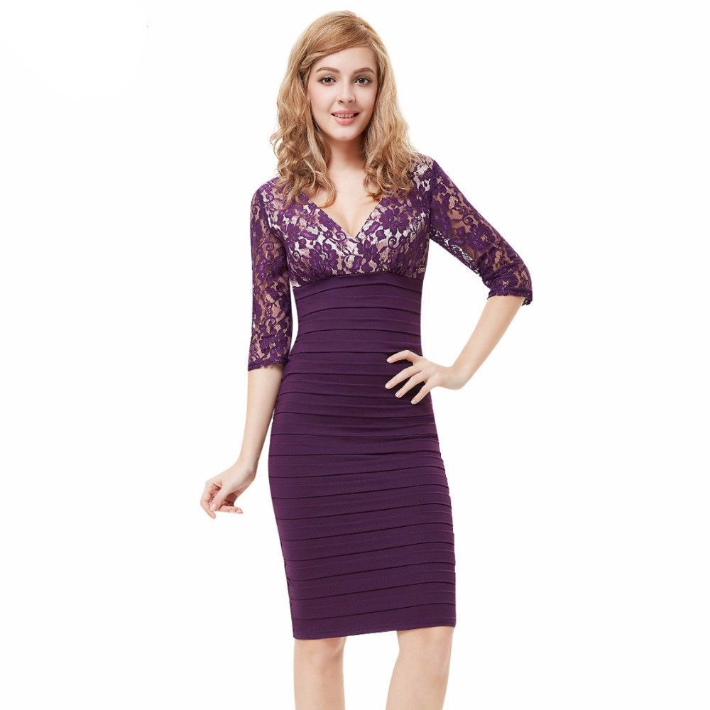 Everpretty sleeve lace womenus coctail party dresses new