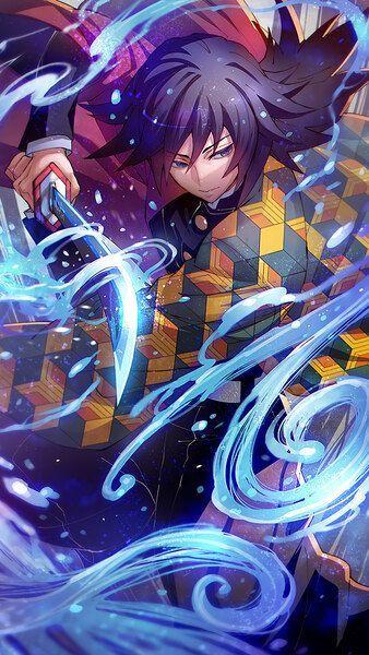 Giyu Tomioka Kimetsu no Yaiba 4 K HD Mobile — Postimages