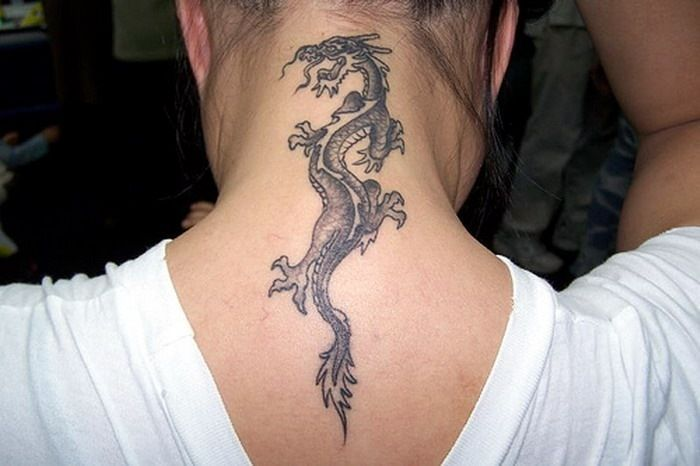 Dragon Tattoo Neck Small Dragon Tattoo Neck Small Dragon Tattoos Neck Tattoo