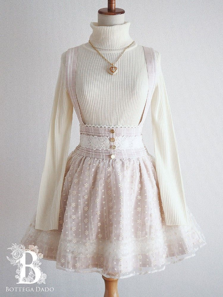b9473c078b 🌹LIZ LISA🌹Suspenders Skirt Dress High-Waist Beige LARME Lolita Japan-M  D811 #Liz_Lisa #Bottega_Dado
