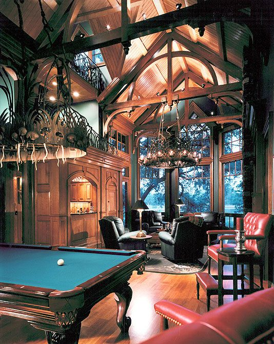 Luxury Home Study Rooms Library: Man Cave, Secret Rooms, Home