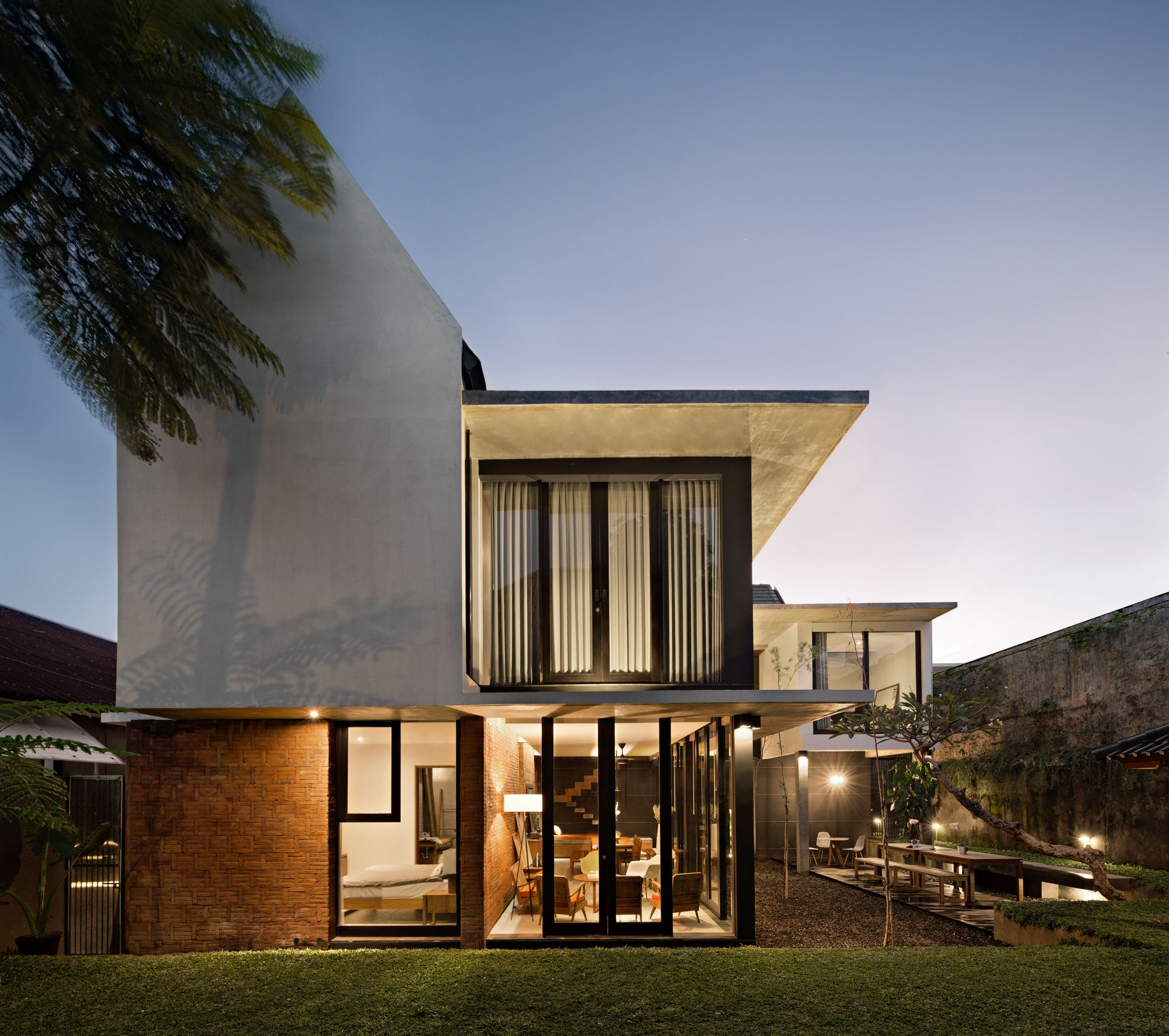 Gallery Of Sujiva Living Somia Design Studio 2 House Designs Exterior Tropical House Design Indonesian House