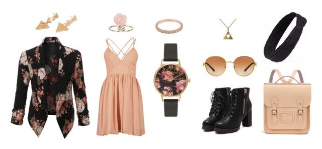 """""""Spring Date"""" by falabawearsclothes ❤ liked on Polyvore featuring LE3NO, Olivia Burton, Vicky Davies, LC Lauren Conrad, Tiffany & Co., Michael Kors and The Cambridge Satchel Company"""