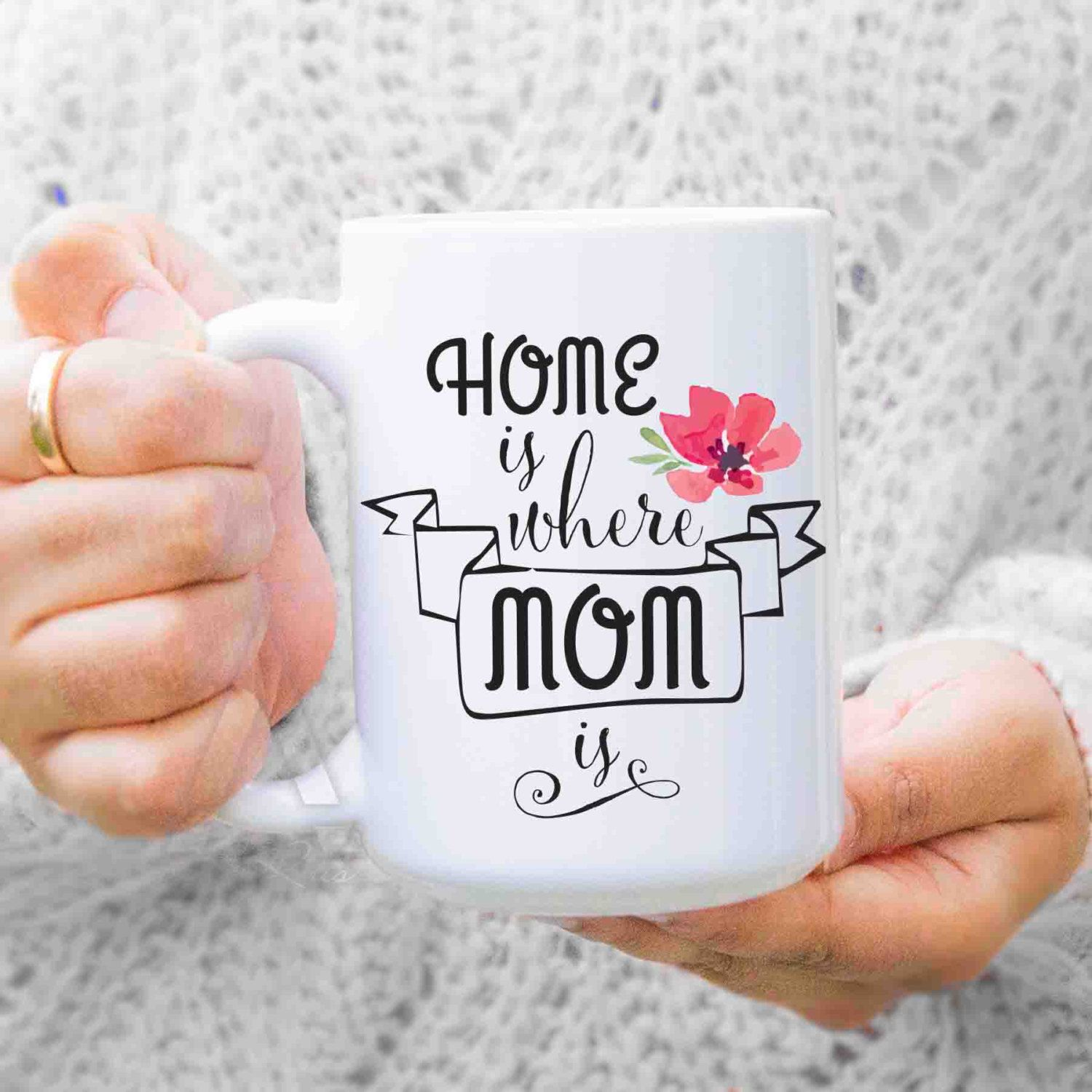 Gifts For Mom From Daughter Home Is Where Mom Is Coffee