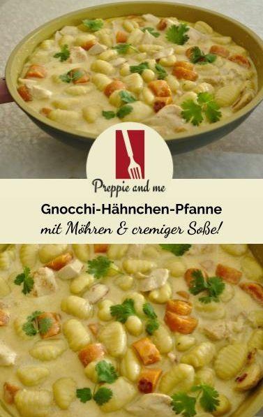 Gnocchi-Hähnchen-Möhren-Pfanne. Schnell gemacht und so lecker!