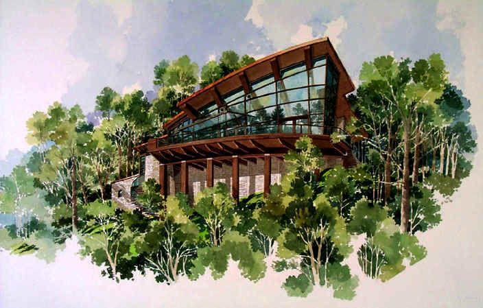 Watercolor House Renderings Watercolor Architectural Renderings