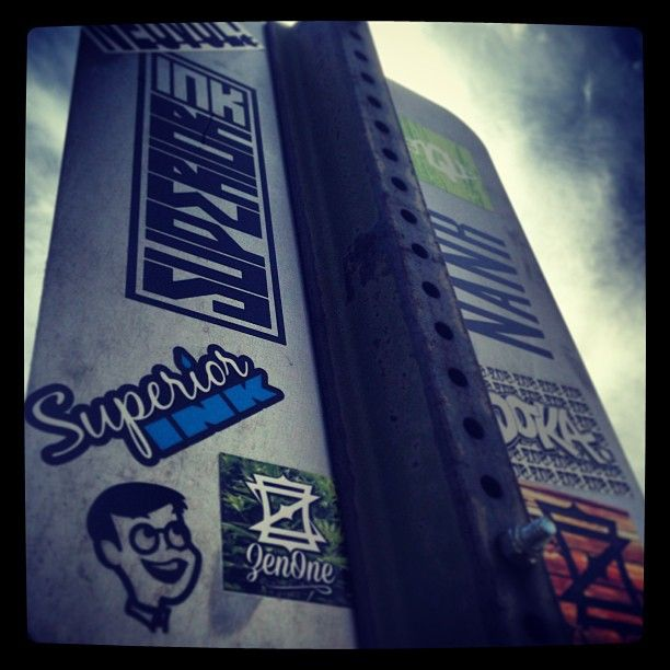 #spotted in the #streets #streetart #superiorink #graffiti #stickers