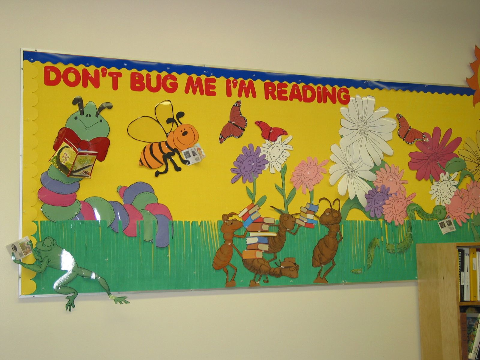 spring bulletin board ideas for preschool posted in library