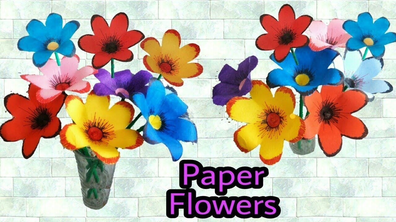 Easy Paper Flowers Making How To Make Paper Flowers Easy Origami