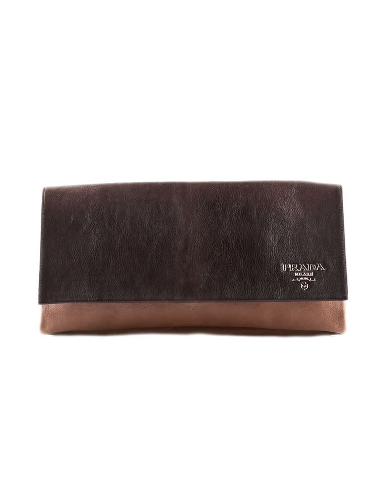 Prada Ombre Leather Clutch
