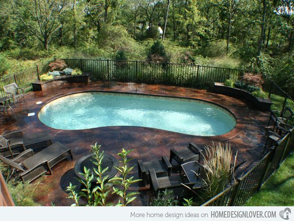 20 exquisite kidney shaped pool designs kidney shaped for Country pool ideas