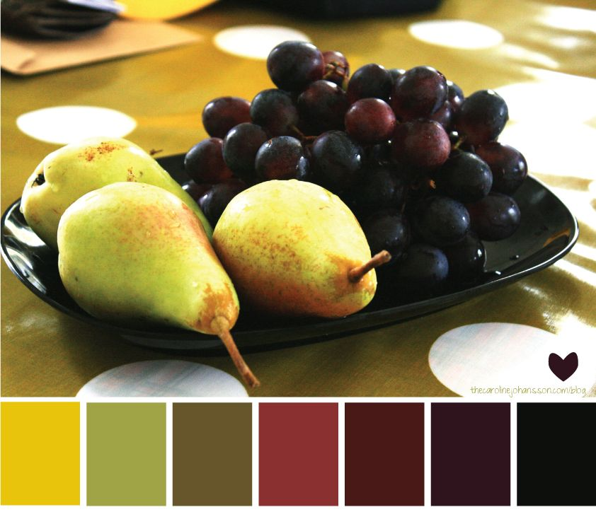 I LOVE yellow, green and purple together, especially in a sophisticated pallette like this.