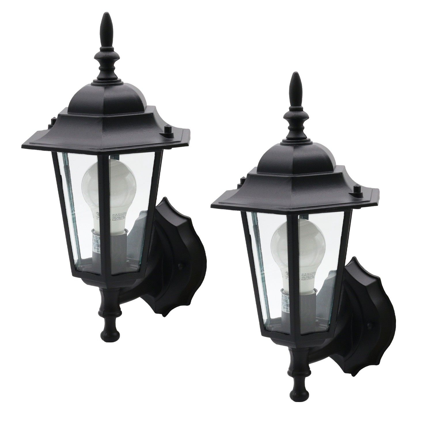 Ever 2 Pack Exterior One Light Lantern Wall Mount Outdoor Clear Glass Black In 2020 Outdoor Lighting Design Diy Outdoor Lighting Outdoor Light Fixtures
