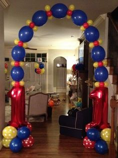 Kids Birthday Party Balloon Decorations decoracin cumple