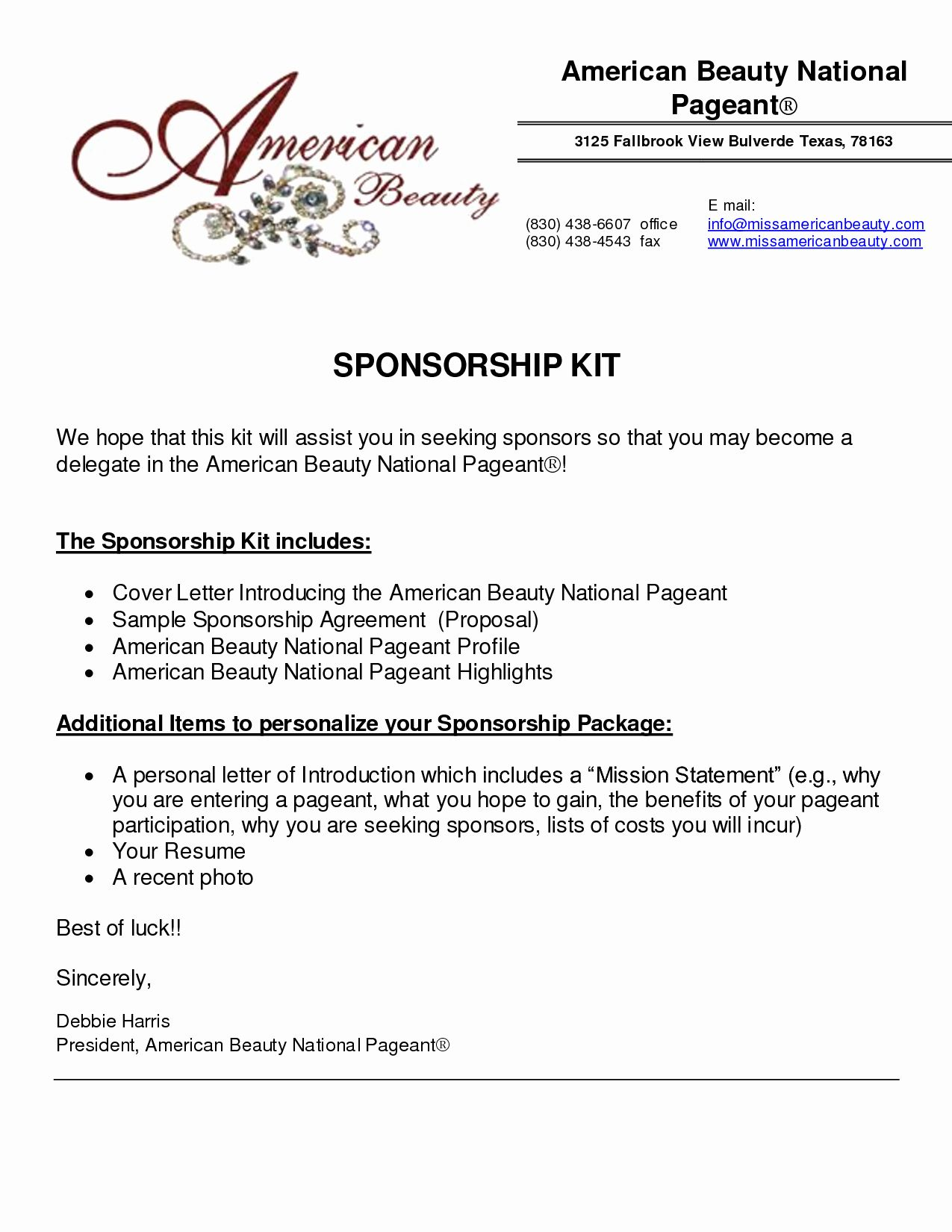 event sponsorship form template in 2020