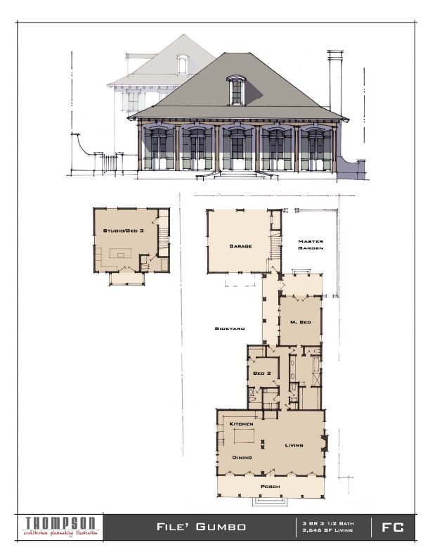 File Gumbo 3 Br 3 1 2 Bath 2 646 Sf Www Thompsonplacemaking Com Filegumbo New House Plans Cottage Design Architecture Plan