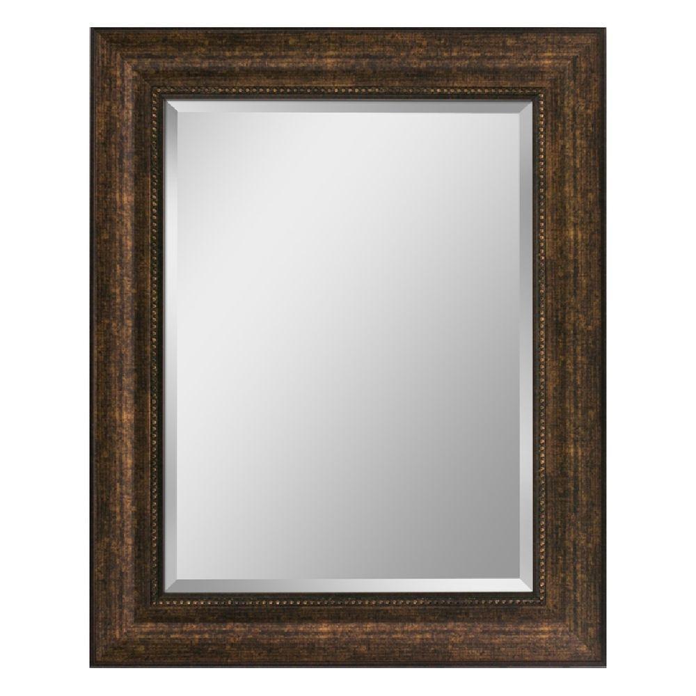 Deco Mirror 29 In X 35 In Beaded Mirror In Bronze 8940 The