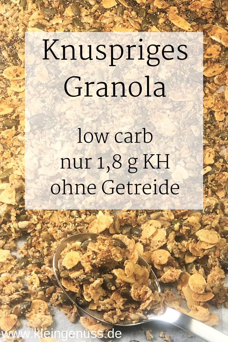 Knuspriges Granola mit Zitronennote – low carb und getreidefrei