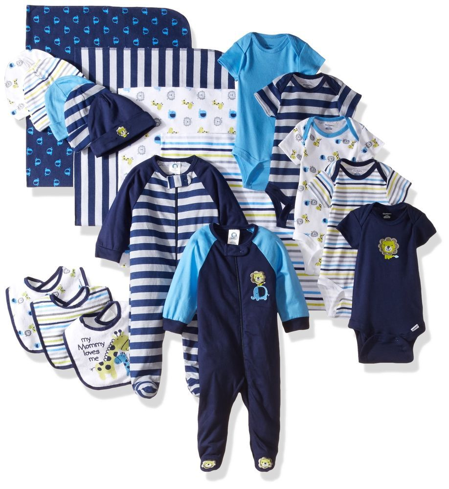 0399e7d2b Details about Gerber Baby Boys  19 Piece Baby Essentials Gift Set ...
