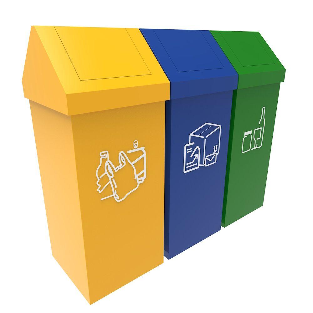 Umea Poubelle Recyclage Modulaire 50 Litres