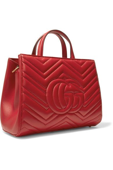 651b711af16ddf Gucci - Gg Marmont Quilted Leather Tote - Red | Products | Quilted ...